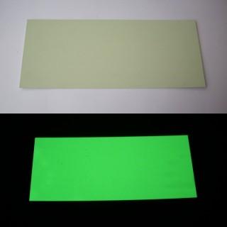 Placas PVC fotoluminescentes em branco cortadas