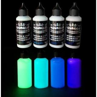 Tinta fosforescente à base de água MOONGLO KIT 4 cores